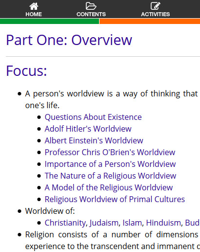Studies of Religion Overview