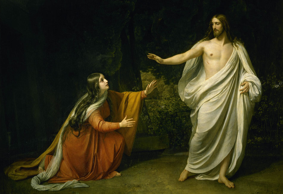 Jesus' Appearance to Mary Magdalene After Resurrection - Alexander Ivanov